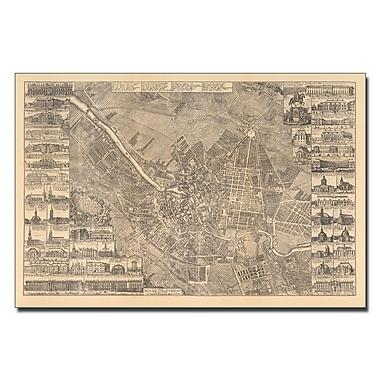 Trademark Fine Art Schleun 'Map of Berlin 1773' Canvas Art