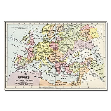 Trademark Fine Art Europe at the Time of the Third Crusade 1190' Canvas Art