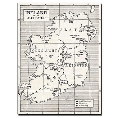 Trademark Fine Art 'Map of Ireland in the Sixth Century' Canvas Art