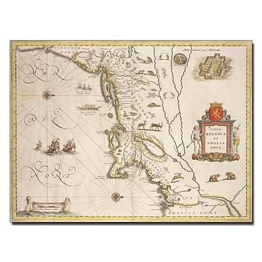 Trademark Fine Art Joan Blaeu 'Map of New Belgium and New England' Canvas Art