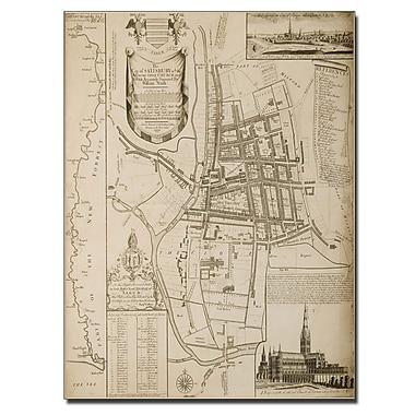Trademark Fine Art William Nash 'Map of Salisbury 1751' Canvas Art