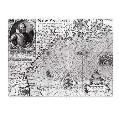 Trademark Fine Art John Smith 'Coast of New England 1614' Canvas Art