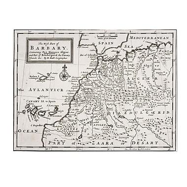 Trademark Fine Art Hermann Moll 'Map of Western Barbary 1720' Canvas Art