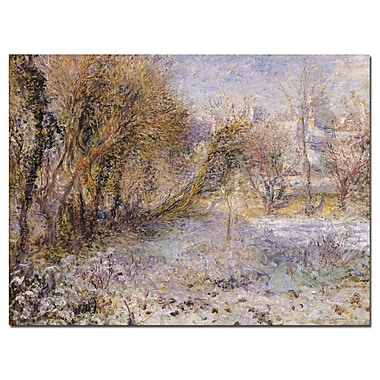 Trademark Fine Art Pierre Renoir Snowy Landscape' Canvas Art