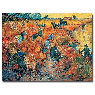 Trademark Fine Art Vincent van Gogh 'Red Vineyards at Arles, 1888' Canvas Art