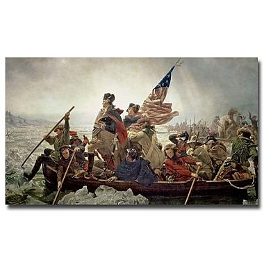 Trademark Fine Art Emanuel Leutze 'Washington Crossing Delaware River in 1776'