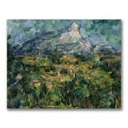 Trademark Fine Art Paul Cezanne 'Mont Sainte-Victoire' Canvas Art