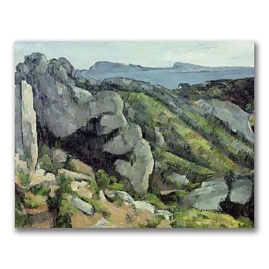 Trademark Fine Art Paul Cezanne 'Rocks at L'Estaque' Canvas Art