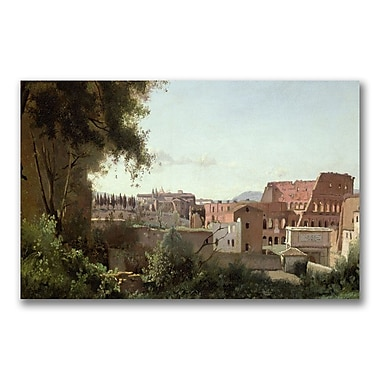 Trademark Fine Art Jean Baptiste Corot 'View of the Colosseum' Canvas