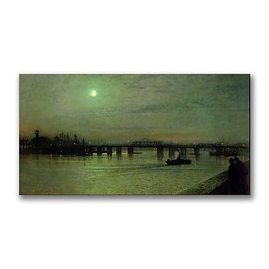 Trademark Fine Art John Grimshaw 'Battersea Bridge' Canvas Art