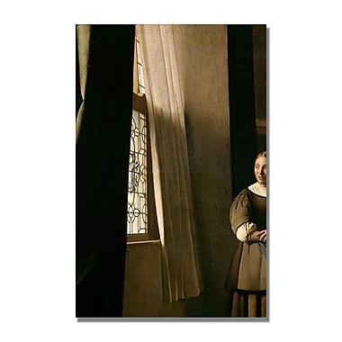 Trademark Fine Art Jan Vermeer 'Lady Writing a letter' Canvas Art