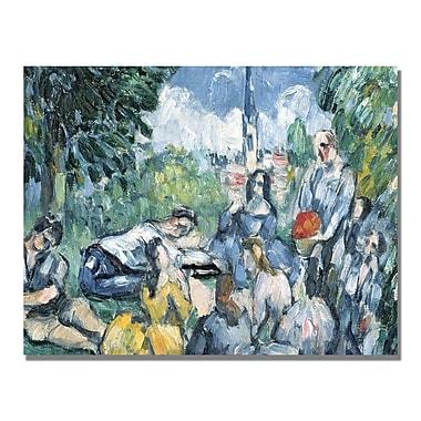 Trademark Fine Art Paul Cezanne 'Dejeuner sur l'herbe' Canvas Art
