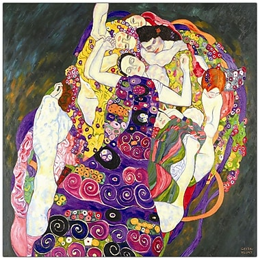 Trademark Fine Art Virgins by Gustav Klimt-Canvas Art