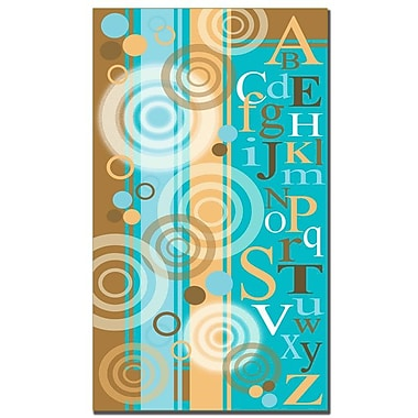 Trademark Fine Art Circles and Letters by Grace Riely Canvas Art