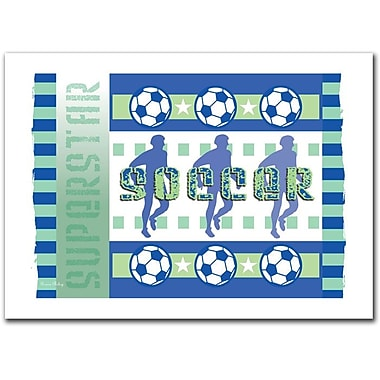 Trademark Fine Art Soccer by Grace Riley-Ready to Hang Art