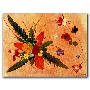 Trademark Fine Art Whirled Away by Kathie McCurdy Canvas Art