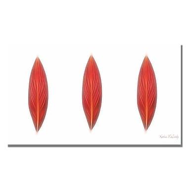 Trademark Fine Art Kathie McCurdy 'Canna Leaves' Canvas Art