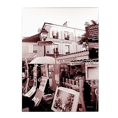 Trademark Fine Art Kathy Yates 'Montmartre 2' Canvas Art