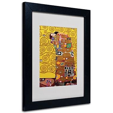 Trademark Fine Art Gustav Klimt 'Fulfillment' Framed Matted Art