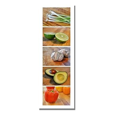 Trademark Fine Art Michelle Calkins 'Vegtables' Canvas Art