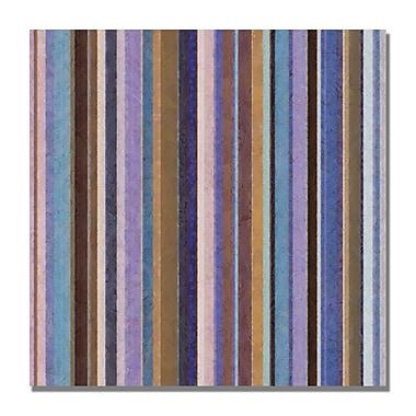 Trademark Fine Art Michelle Calkins 'Comfortable Stripes II' Canvas Art