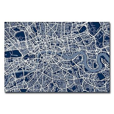 Trademark Fine Art Michael Tompsett 'London Street Map III' Canvas Art