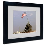 Trademark Fine Art CATeyes 'Marine Corps Memorial' Matted Framed Art