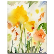 Trademark Fine Art Sheila Golden 'Garden Yellows' Canvas Art