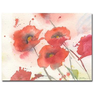 Trademark Fine Art Shelia Golden 'Swaying Red Poppies' Canvas Art