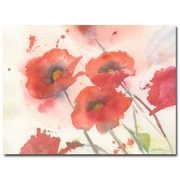 Trademark Fine Art Shelia Golden 'Swaying Red Poppies' Canvas Art