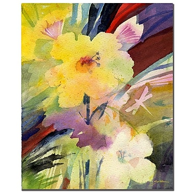 Trademark Fine Art Sheila Golden 'Yellow Dragonfly' Canvas Art