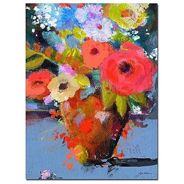 Trademark Fine Art Sheila Golden 'Bouquet for Monica' Canvas Art