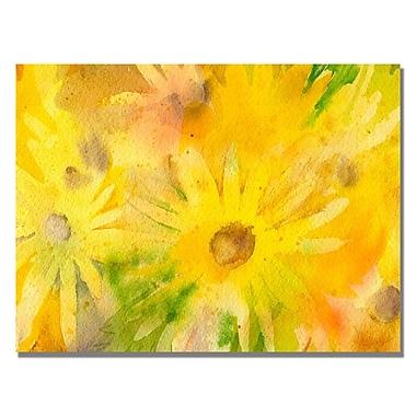 Trademark Fine Art Sheila Golden 'Yellow Wildflowers' Canvas Art