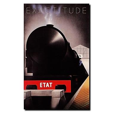 Trademark Fine Art Cassandre-Exactitude Etat Gallery Wrapped Canvas