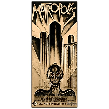 Trademark Fine Art Metropolis by Schuluz Nendamm-Framed 18x32 Canvas Art