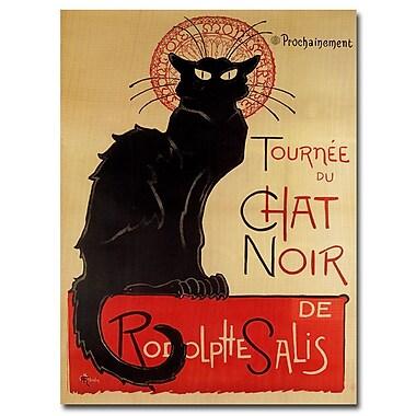 Trademark Fine Art Theophile A. Steinlen 'Tournee du Chat Noir' Canvas Art