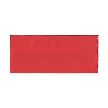 JAM PaperMD – Enveloppes format livret papier recyclé de couleur vive, ferm. gommée, 4 1/8 po x 9 1/2 po, rouge festif
