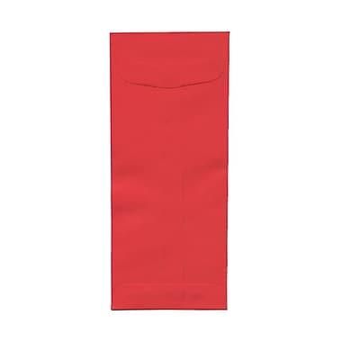 JAM PaperMD – Enveloppes format livret à ouv. au sommet Bright Hue en pap. recyclé avec ferm. gom., 4 1/8 x 9 1/2 po, rouge Noël