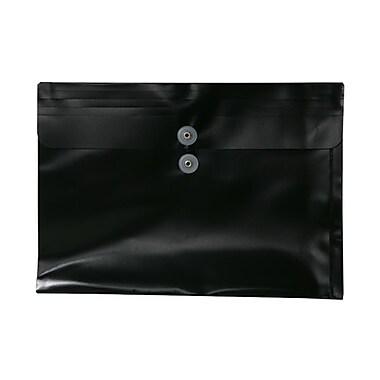 JAM PaperMD – Enveloppes en plastique format légal, 9 3/4 x 14 1/2 po, noir
