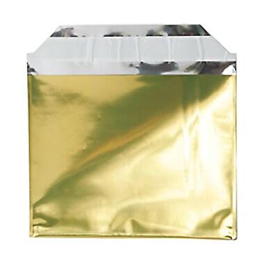 JAM PaperMD – Enveloppes format livret ouverture côté court en aluminium à fermeture « pelez et scellez », 5 x 6 1/8 po, doré