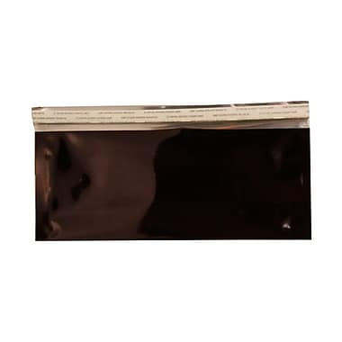 JAM PaperMD – Enveloppes format livret ouverture côté court en aluminium à fermeture « pelez et scellez », 4 x 9 1/2 po, noir