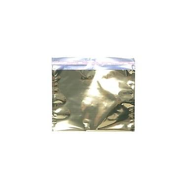 JAM PaperMD – Livret d'enveloppes en aluminium à fermeture « pelez et scellez », 9 1/2 x 12 po, doré