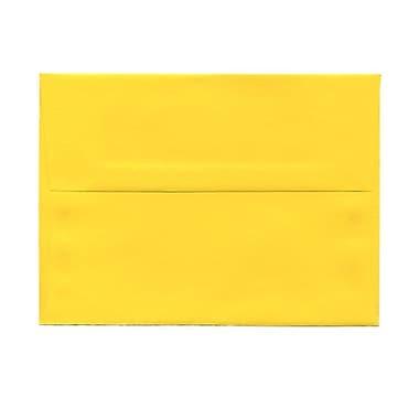 JAM PaperMD – Enveloppes format livret Bright Hue en papier recyclé avec fermetures gommées, 4 3/4 x 6 1/2 po, jaune