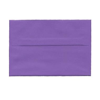 JAM PaperMD – Enveloppes recyclées couleurs vives format livret à fermeture gommée, 4 3/4 x 6 1/2 po, violet