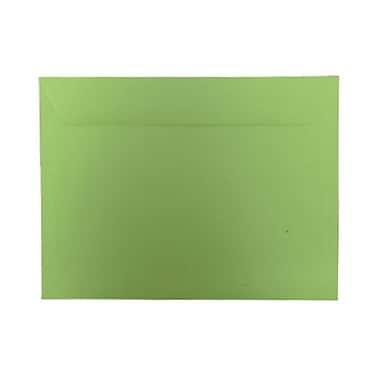 JAM PaperMD – Enveloppes lisses de teinte claire, 9 po x 12 po, vert lime