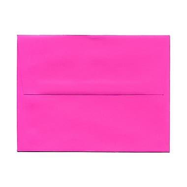JAM PaperMD – Enveloppes couleurs vives format livret à fermeture gommée, 4 3/8 x 5 3/4 po, rose fuchsia éclatant