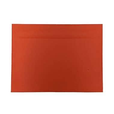 JAM PaperMD – Enveloppes lisses de teinte claire en papier recyclé de format invitation, 9 po x 12 po, orange