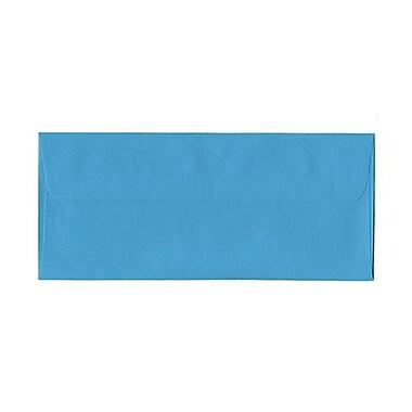 JAM PaperMD – Enveloppes recyclées couleurs vives format livret à fermeture gommée, 4 1/8 x 9 1/2 po, bleu