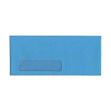 JAM PaperMD – Enveloppes format livret de teinte claire en papier recyclé avec fenêtre et ferm. gommée, 4 1/8 x 9 1/2 po, bleu