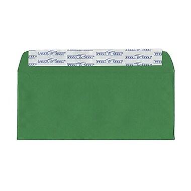 JAM PaperMD – Enveloppes de teinte claire en papier recyclé avec fermeture autocollante, 4 1/8 x 9 1/2 po, vert Noël